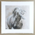 limited edition print of grey horse painting called spirit of the horse 1