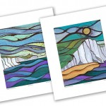 hand finished prints of Belle Tout 1 & Cuckmere Havent 1 as a set of two