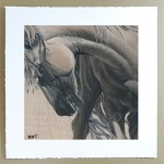 palomino horse portrait limited edition signed pirnt